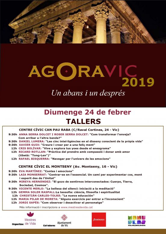 AGORA cartell 2019 tallers